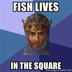 Age Of Empires - fish lives  in the square