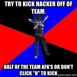 "S4Player - Try to kick hacker off of team. half of the team afk's or don't click ""n"" to kick"