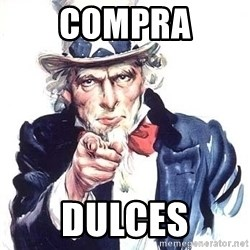 Uncle Sam - compra dulces