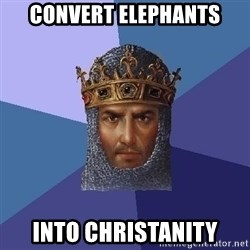 Age Of Empires - convert elephants into christanity