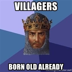 Age Of Empires - Villagers born old already
