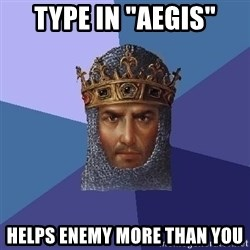 "Age Of Empires - type in ""Aegis"" Helps enemy more than you"