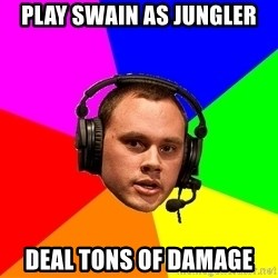 Phreak1 - play swain as jungler deal tons of damage