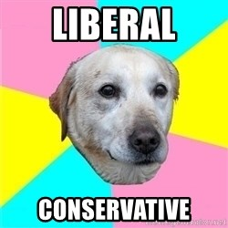 Politically Neutral Dog - Liberal conservative