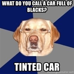Racist Dawg - what do you call a car full of blacks? tinted car