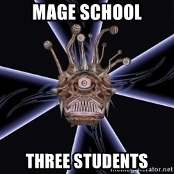 Neverwinter Nights RP Beholder - MAGE SCHOOL THREE STUDENTS