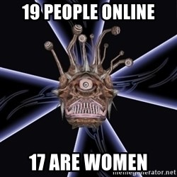 Neverwinter Nights RP Beholder - 19 PEOPLE ONLINE 17 ARE WOMEN