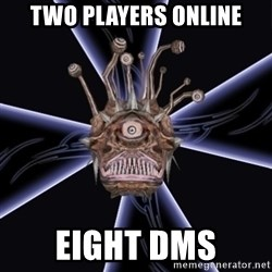 Neverwinter Nights RP Beholder - two players online eight dms