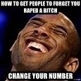Kobe Bryant - How to get people to forget you raped a bitch Change your number