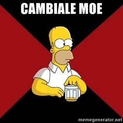 Homer Jay Simpson - cambiale moe