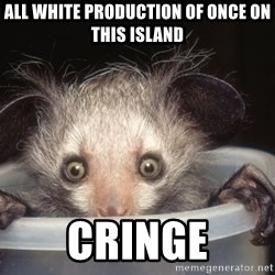 Fyeahtheatreayeaye - all white production of once on this island cringe