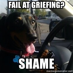 puppycop - fail at griefing? shame
