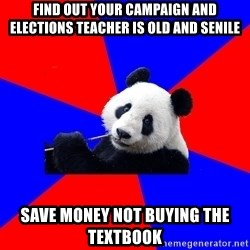 Polisci Panda - find out your campaign and elections teacher is old and senile save money not buying the textbook