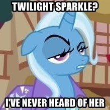 Seriously Pony - Twilight Sparkle? I've Never heard of her