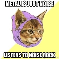 Hipster Kitty - metal is just noise listens to noise rock
