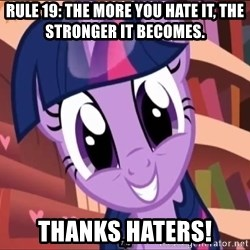 Twilight MLP FIM - Rule 19: The More you hate it, the stronger it becomes. THANKS HATERS!