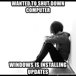 First World Problems - Wanted to shut down computer windows is installing updates