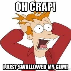 Fry Panic - OH crap! I just swallowed my gum!