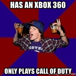 Douchebag College Freshman - Has an xbox 360 only plays call of duty