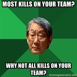 High Expectations Asian Father - Most kills on your team? Why not all kills on your team?