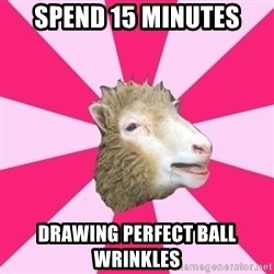 Smut Sheep - spend 15 minutes drawing perfect ball wrinkles