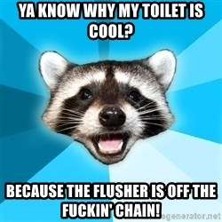 Lame Pun Coon - Ya Know why my toilet is cool? Because the flusher is off the fuckin' chain!