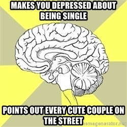 Traitor Brain - Makes you depressed about being single points out every cute couple on the street