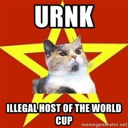 Lenin Cat Red - URNK Illegal Host of the World Cup