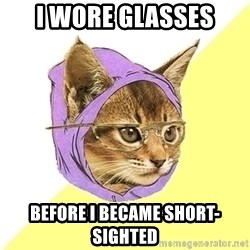 Hipster Kitty - i wore glasses before i became short-sighted