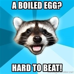 Lame Pun Coon - a boiled egg? hard to beat!