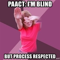 Graffiti Chick  - PAACT: i'm blind but process respected