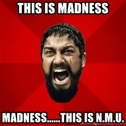 THIS IS SPARTAAA!!11!1 - This is madness Madness......This is N.M.U.