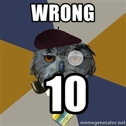 Art Professor Owl - wrong  10