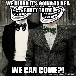 Panic! At The Trolling - we heard it's going to be a party there we can come?!
