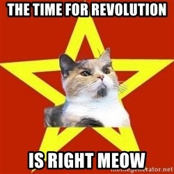 Lenin Cat Red - the time for revolution is right meow