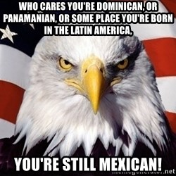 American Pride Eagle - Who cares you're Dominican, or Panamanian, or some place you're born in the Latin America, You're still Mexican!
