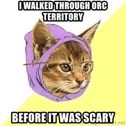 Hipster Kitty - I walked through orc territory before it was scary