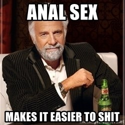 Dos Equis Guy gives advice - anal sex makes it easier to shit