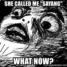 "Inglip - she called me ""sayang"" what now?"