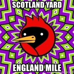 Winged Doom - scotland yard England mile