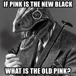 Philosoraptor - if pink is the new black what is the old pink?