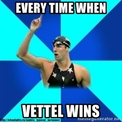 the typical swimmer - every time when vettel wins