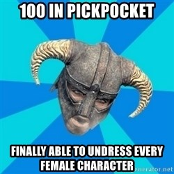 skyrim stan - 100 in pickpocket finally able to undress every female character