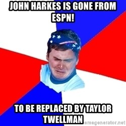 US Soccer Fan Problems - John harkes is gone from espn! to be replaced by taylor twellman