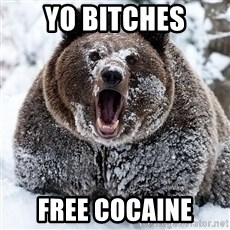 Cocaine Bear - yo bitches free cocaine