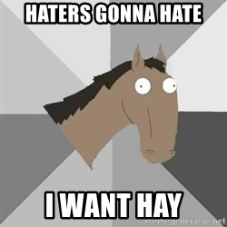 Retard Horse - haters gonna hate i want hay