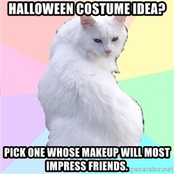 Beauty Addict Kitty - Halloween Costume Idea? Pick one whose makeup will most impress friends.