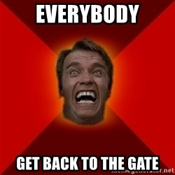 Angry Arnold - everybody get back to the gate