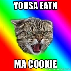Impudent cat - yousa eatn ma cookie
