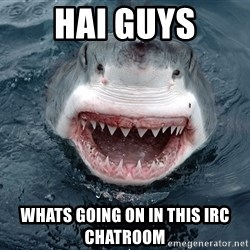 Insanity Shark - HAI GUYS WHATS GOING ON IN THIS IRC CHATROOM